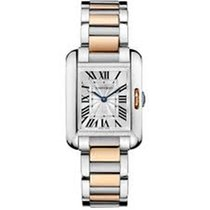 卡地亚 (Cartier) 8DAYwatch-New W5310036 TANK 18K ROSE GOLD AND STEEL