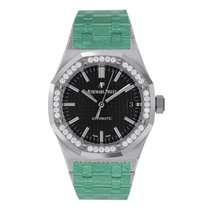 Audemars Piguet Royal Oak Lady Acero 37mm Negro Sin cifras
