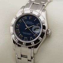 Rolex Lady-Datejust Pearlmaster White gold 29mm Blue Roman numerals