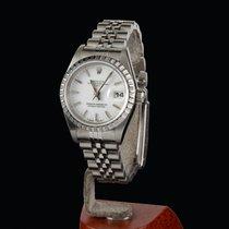 Rolex Oyster Perpetual Lady Date Acier 26mm Blanc Sans chiffres