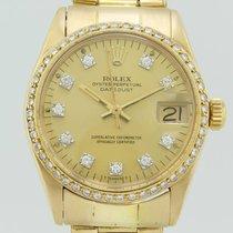 Rolex Oyster Perpertual Datejust Diamond Bezel Automatic Gold...