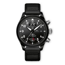 IWC Pilots Top Gun Chronograph  Black Dial Automatic IW389001...