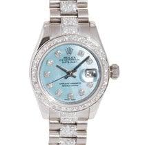 Rolex Datejust white gold diamond lady's