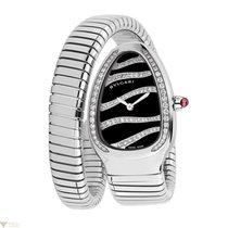 Bulgari Serpenti Stainless Steel Diamond 35mm Ladies Watch...