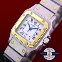Cartier Santos Galbée pre-owned 24mm White Gold/Steel
