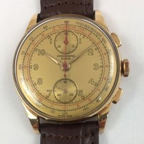 Chronographe Suisse Cie Yellow gold 37mm Manual winding vintage pre-owned