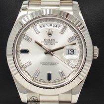 Rolex Day-Date II Oro blanco 41mm Champán