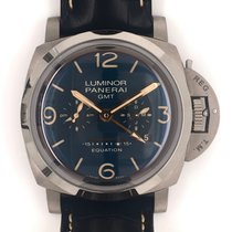 Panerai Luminor 1950 8 Days GMT Titanium 47mm Blue Arabic numerals United States of America, Texas, Houston