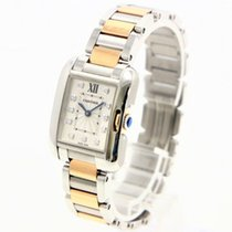 Cartier Tank Anglaise Steel 23mm Silver