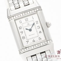 Jaeger-LeCoultre Reverso Dame Acero 21mm Blanco Árabes