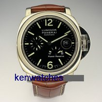 Panerai Luminor Power Reserve pre-owned 44mm Black Date Double-fold clasp