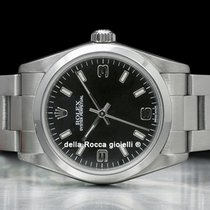 Rolex Oyster Perpetual 31 Stahl 31mm Schwarz Arabisch