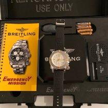 Breitling Сталь Кварцевые Белый Aрабские 45mm подержанные Emergency