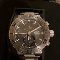 Oris Aquis Titan Chronograph Titane Gris Sans chiffres