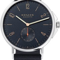 NOMOS Ahoi Atlantik Steel 40.3mm Blue United States of America, New York, Airmont