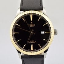 Tudor Men's  Style 41mm Two Tone Stainless Steel Black...