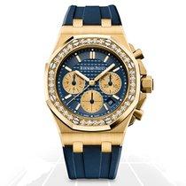 Audemars Piguet Royal Oak Offshore Lady Yellow gold 37mm Blue No numerals