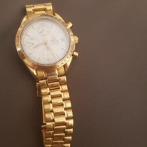Omega Yellow gold Automatic 38mm pre-owned Speedmaster Date