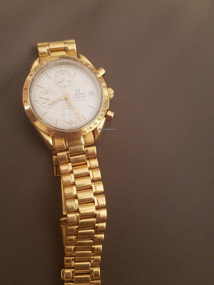 design senza tempo 74585 75813 Omega speedmaster chrono date oro giallo