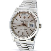 Rolex Day-Date - 118239 - 18K White Gold - Full Set - 12-Month...