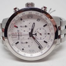 Tissot PRC 200 White Dial Stainless Chronograph Watch T055.417...