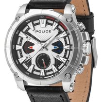 Police 49mm Quartz new Silver