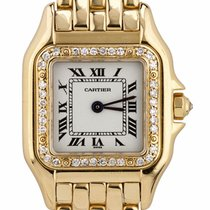 Cartier Panthère Yellow gold 22mm Champagne Roman numerals United States of America, New York, Massapequa Park
