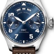 IWC White gold Automatic Blue Arabic numerals 46mm new Big Pilot