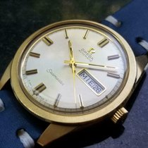 Omega Yellow gold Automatic Silver 36mm pre-owned Seamaster