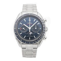 Omega Speedmaster Professional Moonwatch Moonphase Steel 44.2mm Blue No numerals