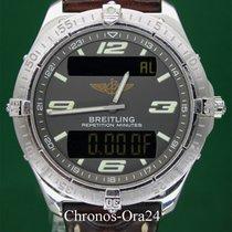Breitling Weißgold Quarz Grau 40mm gebraucht Aerospace