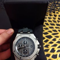 Audemars Piguet Royal Oak Offshore Chronograph Acier Gris Arabes France, paris