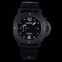 Panerai Carbon Automatic Black Arabic numerals 47mm pre-owned Luminor Submersible 1950 3 Days Automatic