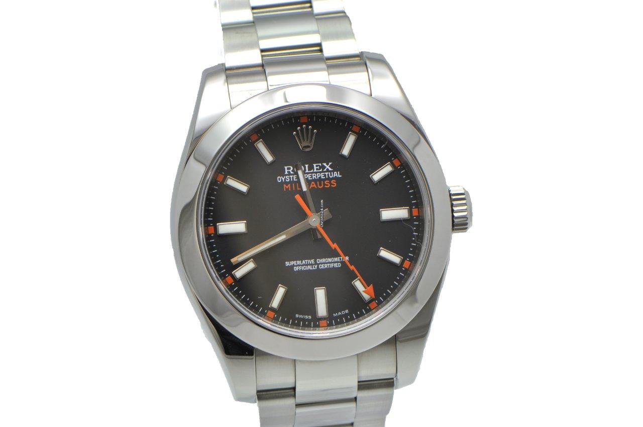 Rolex Milgauss Black Face V series 116400