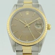 Rolex Oyster Perpetual Date Automatic Steel and 18k Gold 15223