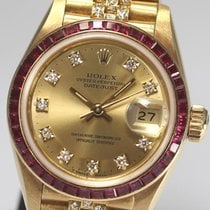 Rolex DATE JUST Ladies baguette cut Ruby original 69098G