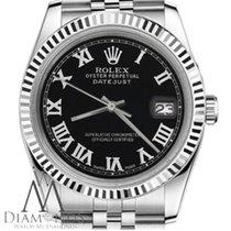 Rolex Сталь Автоподзавод Черный 31mm подержанные Lady-Datejust