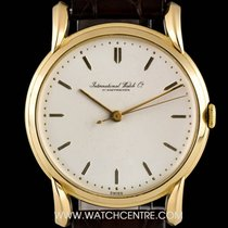 IWC 18k Yellow Gold Cream Dial Vintage Gents Wristwatch