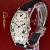 Cartier Tonneau 18k White Gold & Diamond Mecanique Watch...