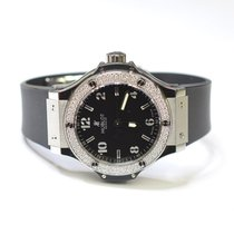 Hublot Big Bang 38mm Stainless Steel Ladies Watch on Rubber...