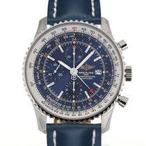 Breitling Navitimer World 46mm Chronograph Blue Dial Blue...