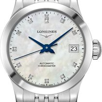 Longines Record Steel 26mm Mother of pearl