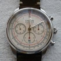 Union Glashütte Steel Automatic Champagne No numerals 44mm new Belisar Chronograph