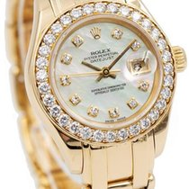 Rolex Lady-Datejust Pearlmaster Yellow gold 29mm Mother of pearl United States of America, Indiana, Carmel