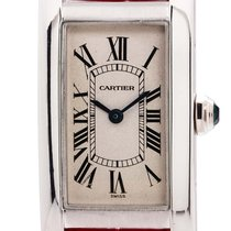 Cartier 1713 White gold 1990 Tank Américaine 20mm pre-owned United States of America, California, West Hollywood