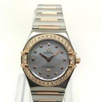 Omega Constellation Ouro/Aço 22.5mm Madrepérola