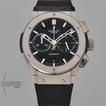 Hublot Steel Automatic Black 45mm pre-owned Classic Fusion Chronograph