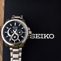 Seiko Ananta Acier 42mm Noir Sans chiffres