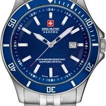 Swiss Military Hanowa Flagship Steel 42mm Blue No numerals