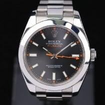 Rolex Milgauss Zeljezo 40mm Crn Bez brojeva